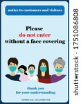 wear face mask sign and symbol. ... | Shutterstock .eps vector #1751086808