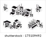industry icons over white... | Shutterstock .eps vector #175109492