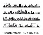 industry icons over white... | Shutterstock .eps vector #175109516