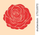 beautiful red rose in a hand... | Shutterstock .eps vector #175110572