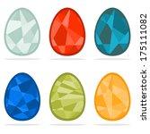 set of easter eggs | Shutterstock .eps vector #175111082