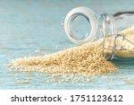 White Sesame Seeds Sprinkled...