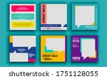 set of sale banner template...   Shutterstock .eps vector #1751128055