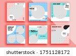 set of sale banner template... | Shutterstock .eps vector #1751128172