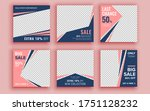 set of sale banner template... | Shutterstock .eps vector #1751128232