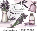 colorful hand drawn sketch set... | Shutterstock .eps vector #1751135888