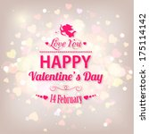 happy valentine's day  holiday... | Shutterstock . vector #175114142