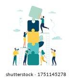 business concept. team metaphor.... | Shutterstock .eps vector #1751145278