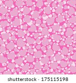 seamless pattern of hearts | Shutterstock .eps vector #175115198