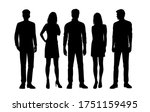 set of vector silhouettes of ... | Shutterstock .eps vector #1751159495