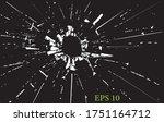 broken glass  cracks  bullet... | Shutterstock .eps vector #1751164712