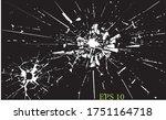 broken glass  cracks  bullet... | Shutterstock .eps vector #1751164718