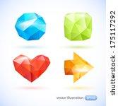 figures in origami style.... | Shutterstock .eps vector #175117292