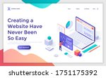landing page template with... | Shutterstock .eps vector #1751175392