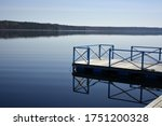 a small pier on the lake... | Shutterstock . vector #1751200328