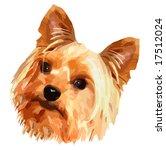 Vector Cute Little Terrier Dog