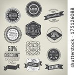 set of vintage retro labels | Shutterstock .eps vector #175126088
