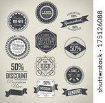 set of vintage retro labels | Shutterstock .eps vector #175126088