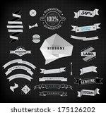vector set of retro label ... | Shutterstock .eps vector #175126202