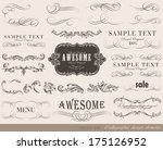 calligraphic design elements... | Shutterstock .eps vector #175126952