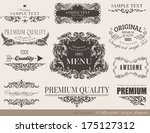 calligraphic design elements... | Shutterstock .eps vector #175127312