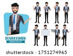 businessman character vector...   Shutterstock .eps vector #1751274965