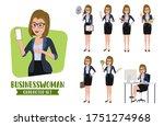 businesswoman character vector...   Shutterstock .eps vector #1751274968