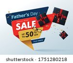 happy fathers day sale 50  off... | Shutterstock .eps vector #1751280218