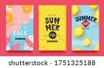summer sale background layout... | Shutterstock .eps vector #1751325188