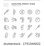 simple set of icons related to... | Shutterstock .eps vector #1751344022
