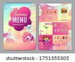 restaurant summer tropical... | Shutterstock .eps vector #1751355305