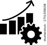 productivity icon. monochrome... | Shutterstock .eps vector #1751358038