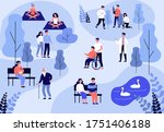 patients walking and training... | Shutterstock .eps vector #1751406188