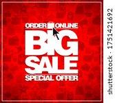 order online big sale lettering ... | Shutterstock . vector #1751421692