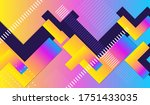 minimal geometric abstract... | Shutterstock .eps vector #1751433035