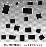 empty photos on garland with... | Shutterstock .eps vector #1751447198