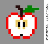pattern apple. pixel apple...