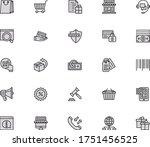 shopping icon set.box barcode...
