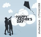 happy father's day celebration. ... | Shutterstock .eps vector #1751461088