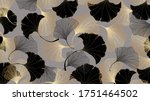 luxury gold ginkgo background... | Shutterstock .eps vector #1751464502