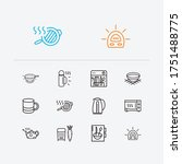 utensil icons set. grater and...