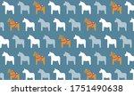 scandinavian pattern.little and ... | Shutterstock .eps vector #1751490638