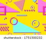 seamless pattern in the style...   Shutterstock .eps vector #1751500232