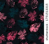 Seamless Pattern With Imprint...