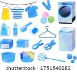 laundry illustration set  ... | Shutterstock .eps vector #1751540282
