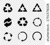 recycle. recycle vector icons ... | Shutterstock .eps vector #1751578328