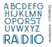 vintage decorative vector font. ... | Shutterstock .eps vector #175158932