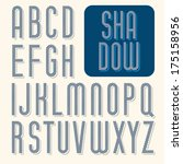 decorative vector font.... | Shutterstock .eps vector #175158956