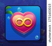 vector image of red pink heart...   Shutterstock .eps vector #1751603015
