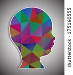 head of polygons | Shutterstock .eps vector #175160555